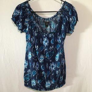 🛍💰Lucky Brand Blue Design Short Sleeve Shirt